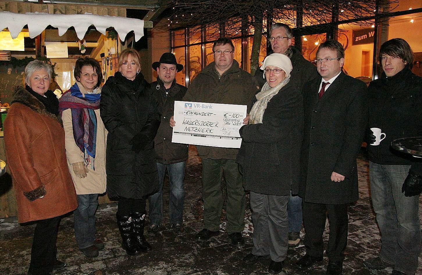 Gewerbeverein besuchte Glühweinstand